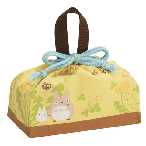Totoro Yellow Flower Bag 16.5 x 29cm (BIG), Made in Japan J51862