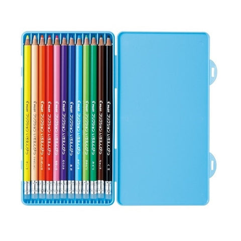 Pilot Frixion Colour Pencial 12pcs - Blue, Made in Japan J51876