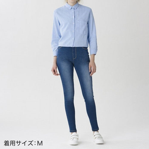 GUNZE Legging Light Blue Denim