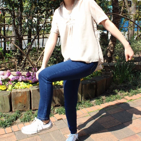 GUNZE Legging Dark Blue Denim