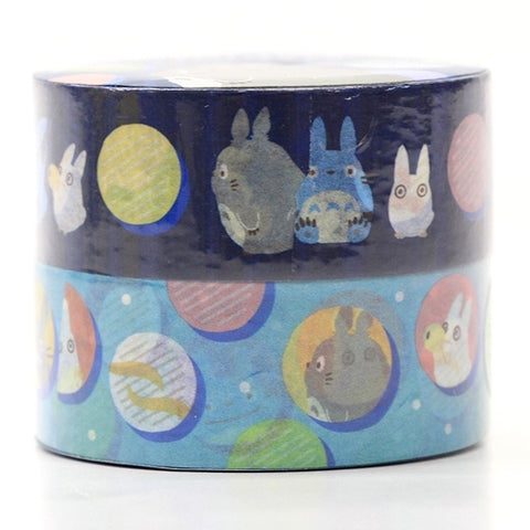 Totoro Masking Tape (2-roll) Blue Bubble J52691
