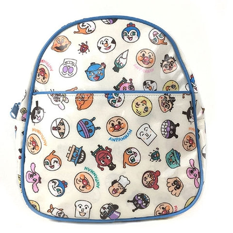 Anpanman Small Head Pattern Backpack (Blue), Made in Japan J52719