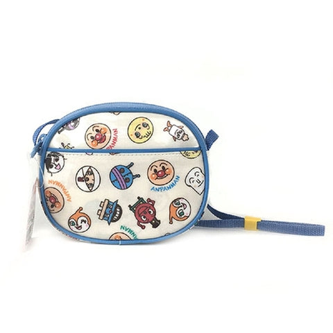 Anpanman Small Head Pattern Handbag (Blue), Made in Japan J52721