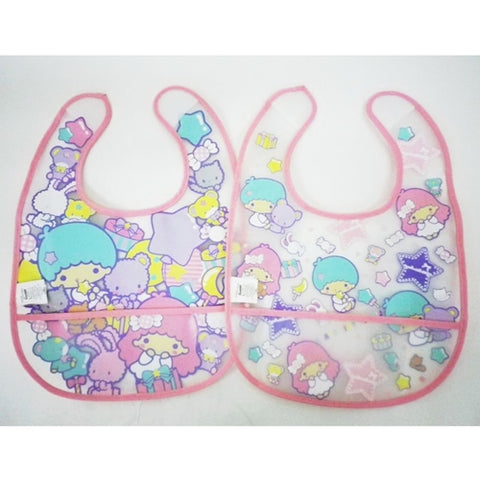Little Twin Stars PVC bib 2pcs Set J52736