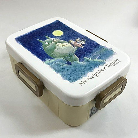 Totoro 4 Point Lock Lunch Box 650 ml Watercolor, Made in Japan J53075