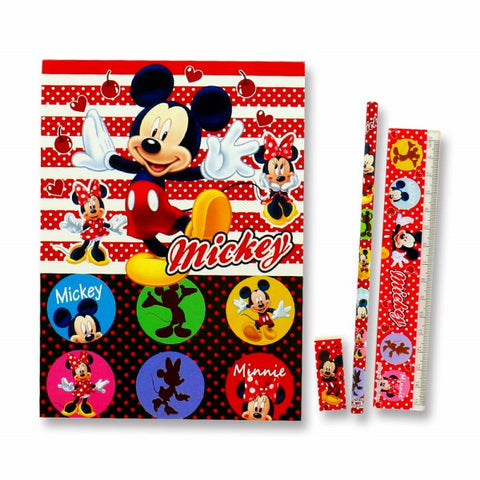 Japan Disney Stationery 4pcs Set J53157