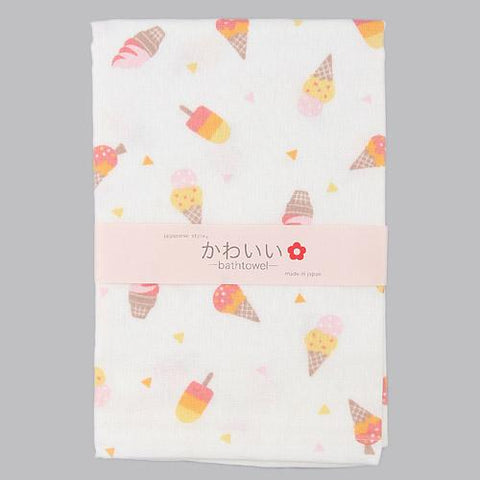 Nissen Shoko Gauze Bath Towel Ice Cream J53233