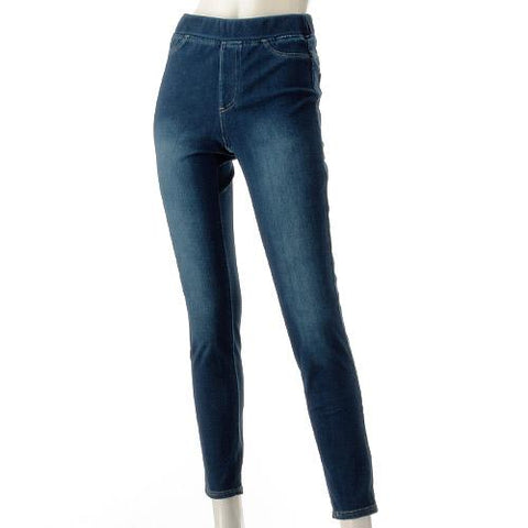 Gunze Tuche Denim Leggings Pants  NEW- Dark Blue