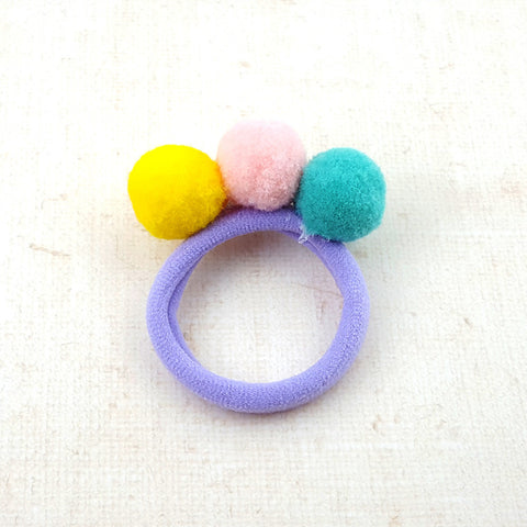 Triple Puffer Balls Hair Tie 81457