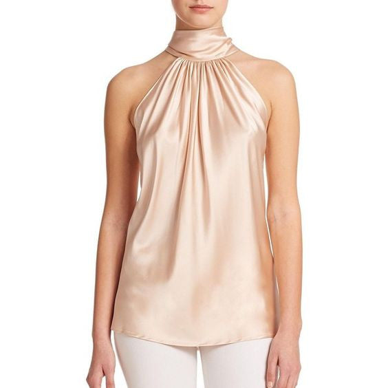 3ba7ccb188c75c ... Amazing Super soft silky satin neck Halter Blouse - Betty Abyssinia ...