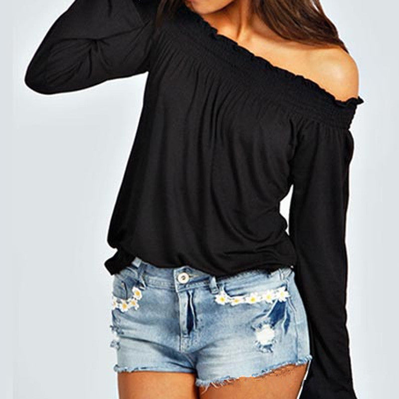 90a5713bcd2bdc ... Sexy summer Cold shoulder blouse - Betty Abyssinia