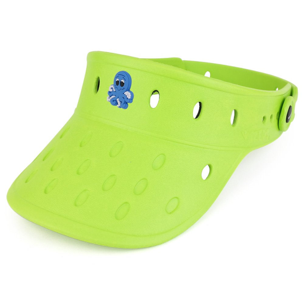 1a0418ee ... Trendy Apparel Shop Durable Adjustable Floatable Foam Visor Hat With  Octopus Snap Charm ...