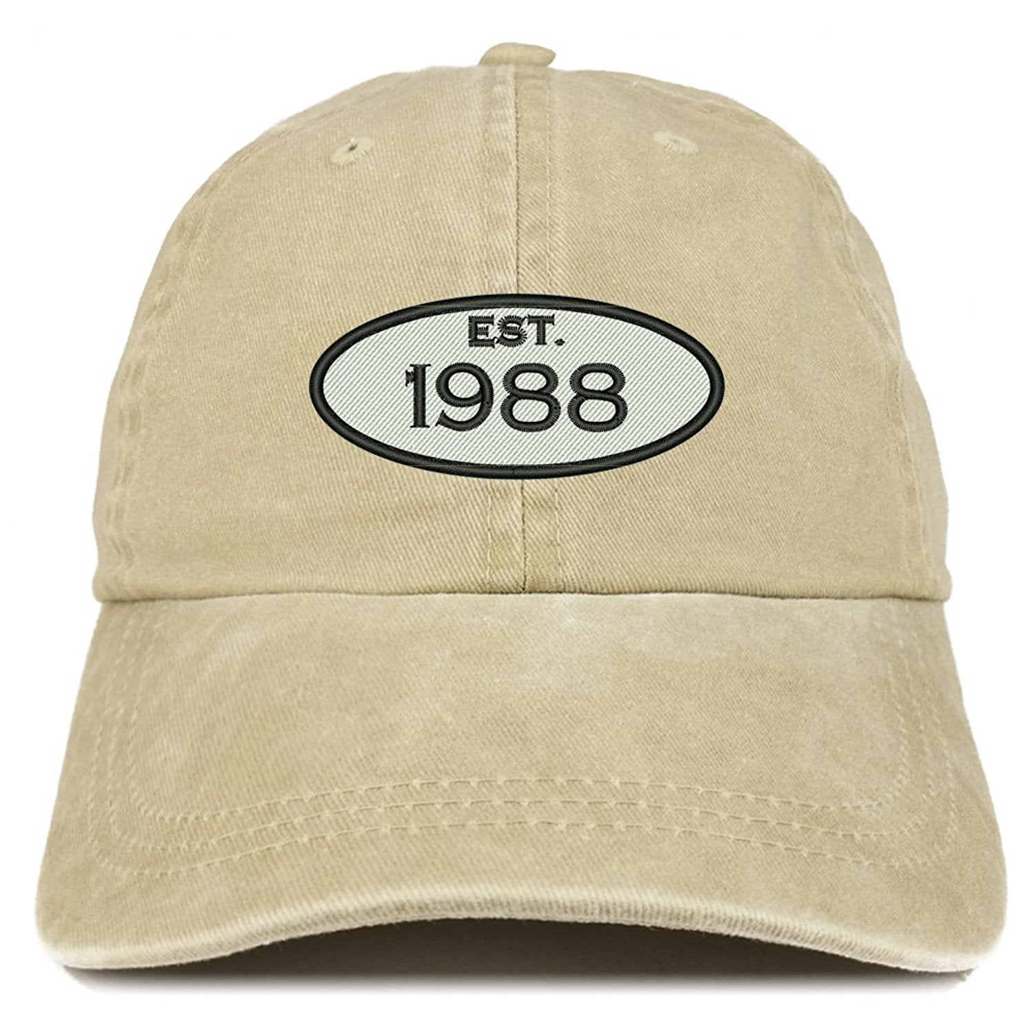 Trendy Apparel Shop Established 1988 Embroidered 30th Birthday Gift Pi