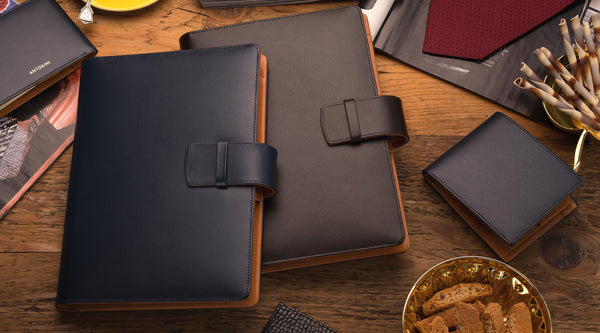 luxury leather planners
