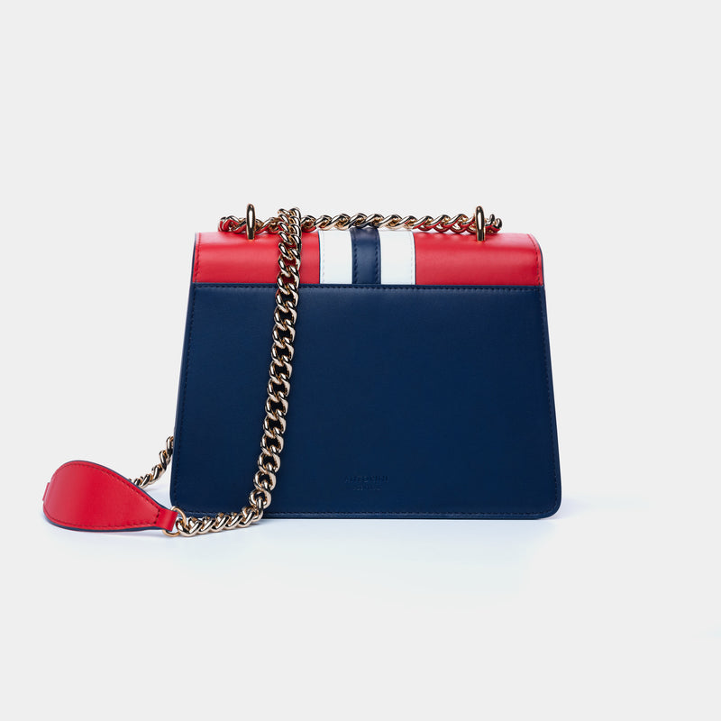LUXURIOUS HANDBAG ANTORINI CHANTAL, BLUE-RED-ANTORINI®