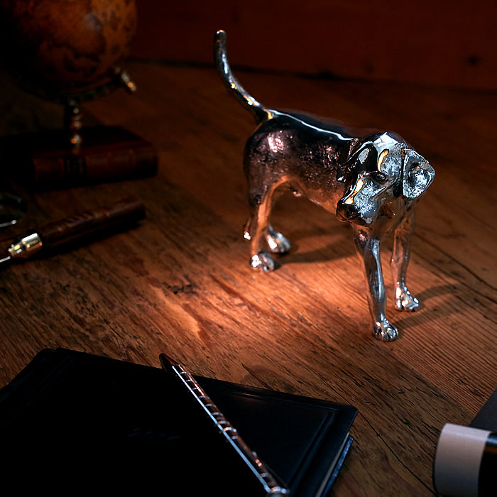 Fox Hound Dog, Silver Plated