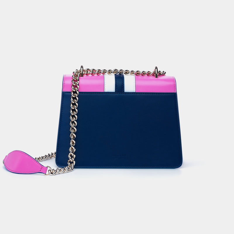 LUXURIOUS HANDBAG ANTORINI CHANTAL, BLUE & PINK-ANTORINI®