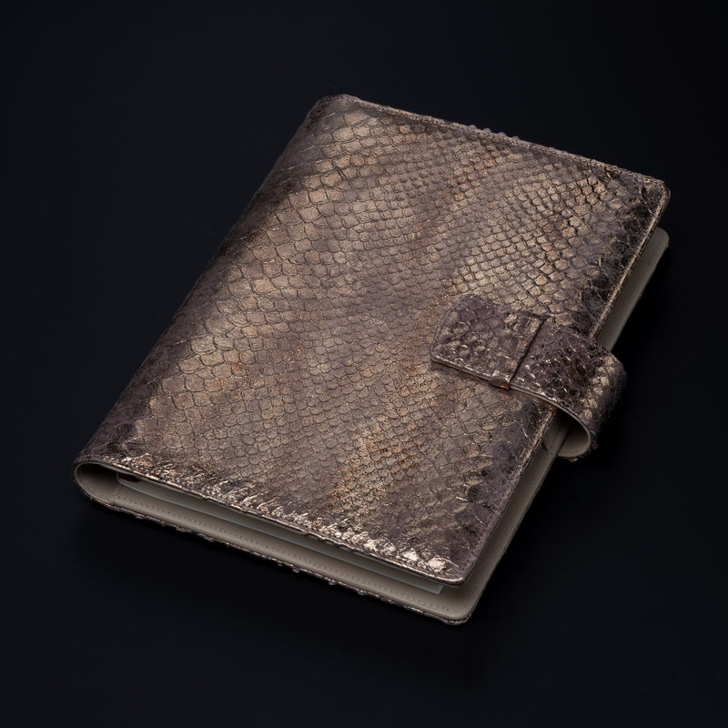 Men's Leather A5 Agenda in Metallic Bronze-ANTORINI®