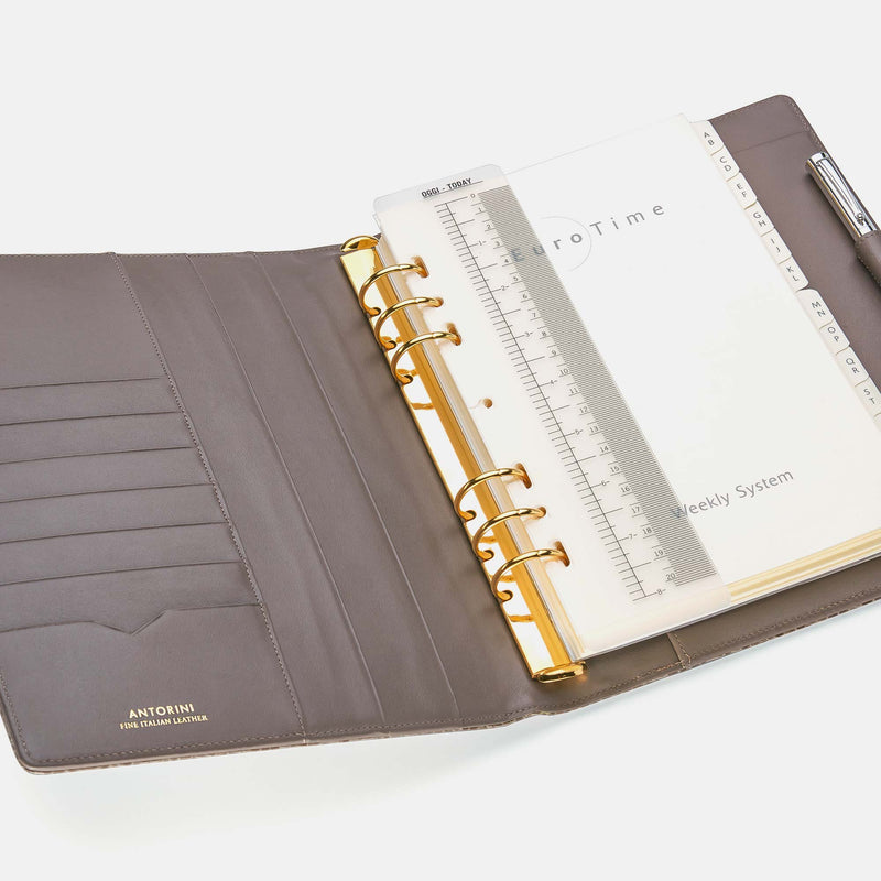 Leather Manager A5 Agenda in Chanterelle Croc-ANTORINI®