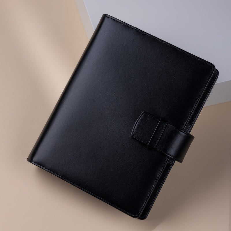 Leather Personal Organiser Black 2021, A6, Satin-ANTORINI®