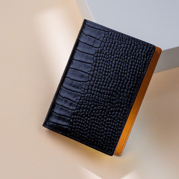 2021 Pocket Diary or Refillable Notebook, A7, Black Croc-ANTORINI®