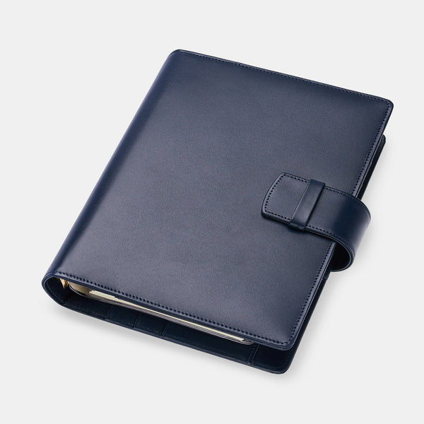 Leather Manager A5 Agenda in Navy, 2021