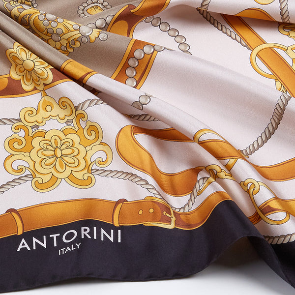 Gold & Bridle Scarf, Black-ANTORINI®