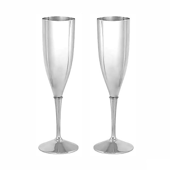 Set of Silver Champagne Flutes