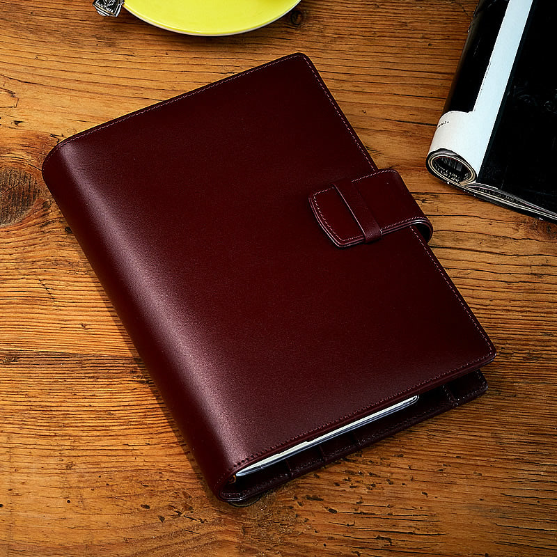 Leather Manager A6 Agenda in Burgundy, 2019