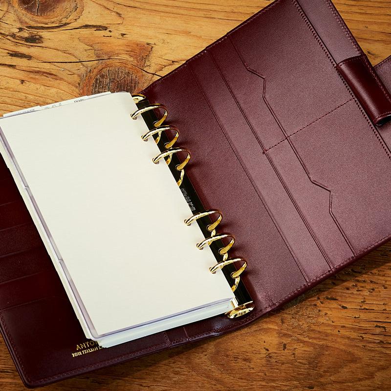 Leather Manager A6 Agenda in Burgundy-ANTORINI®