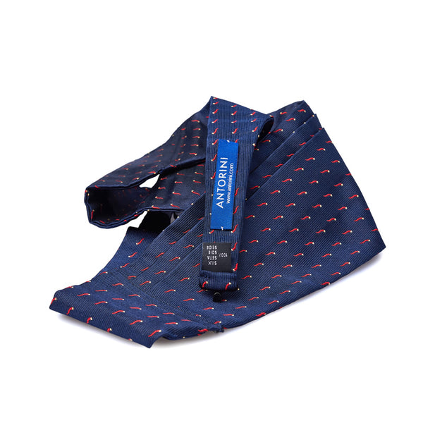 Silk Cummerbund in Navy with Corno-Pepperoncino-ANTORINI®