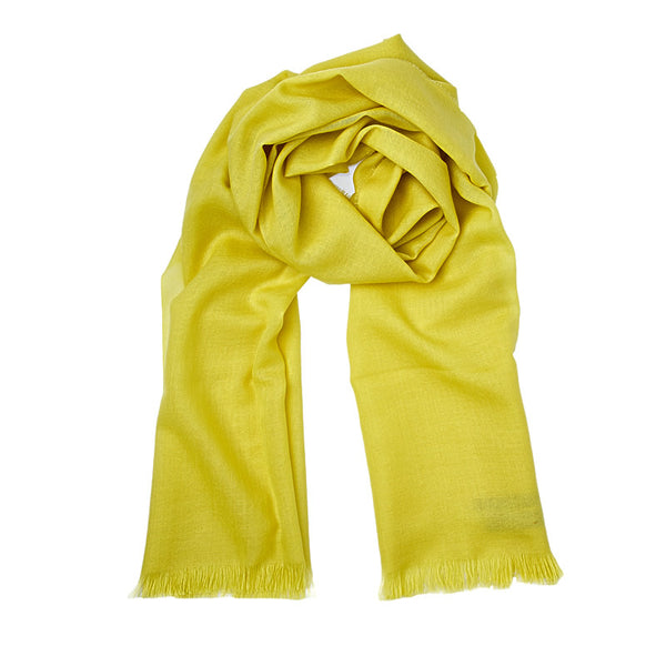 Merino Wool Scarf ANTORINI in Yellow