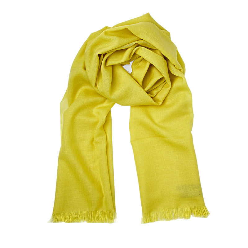 Merino Wool Scarf ANTORINI in Yellow-ANTORINI®