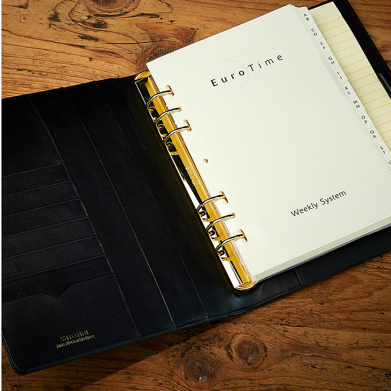 Large Executive Agenda in Black Matt Croc, A5-ANTORINI®