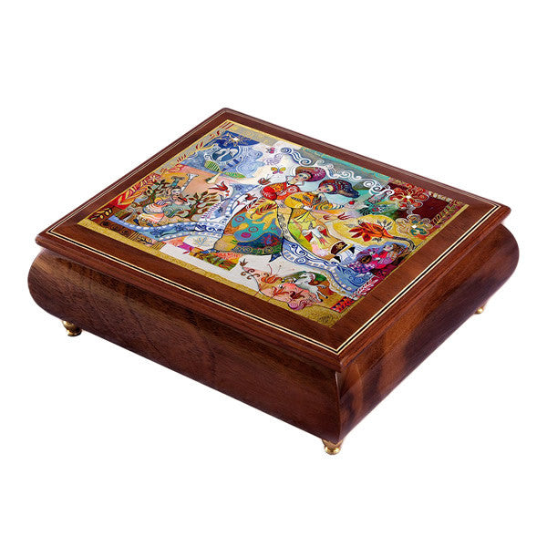 "Jewellery Box with Melody playing "" Waltz of Flowers"""