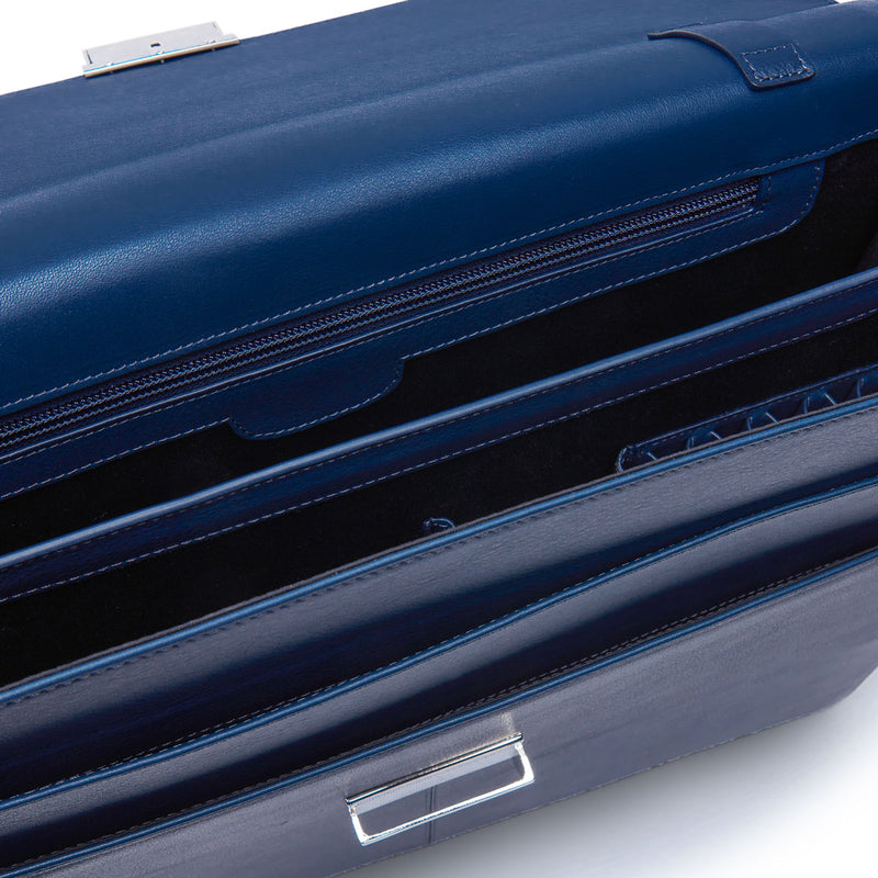 Leather Briefcase in Navy-ANTORINI®