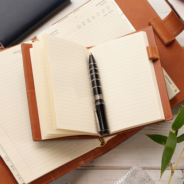 Luxury A6 Diary & Journal in Brown and Cognac-ANTORINI®