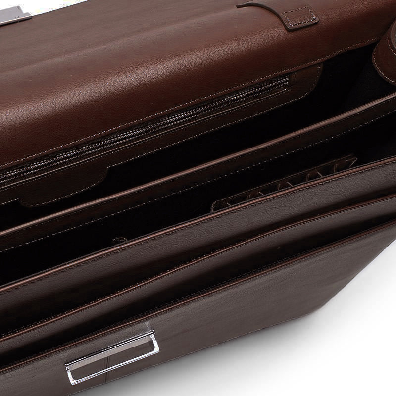 Leather Briefcase in Brown