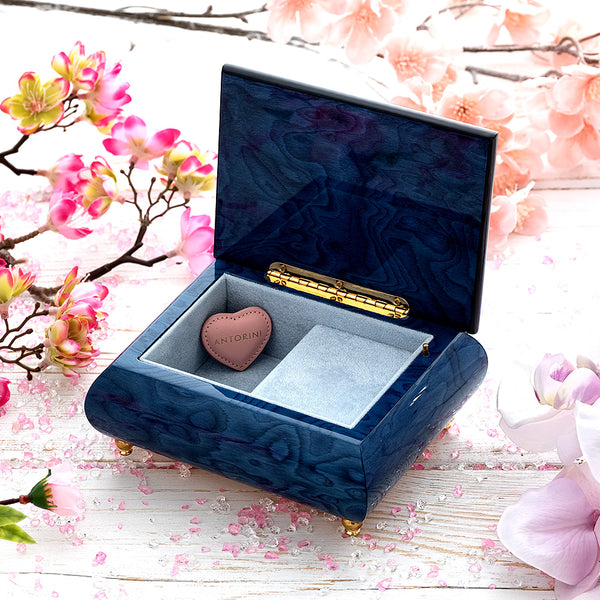 "Music Jewellery Box with Motive of ""Water Lilies""-ANTORINI®"