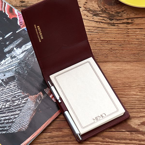 Pocket Memo Pad Burgundy
