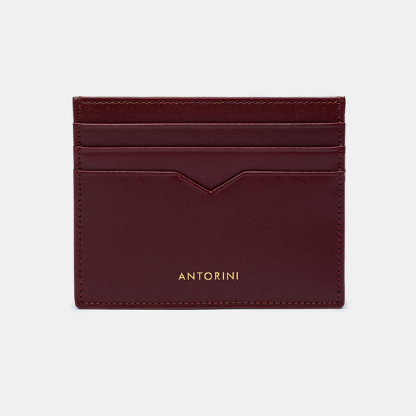 Card Wallet in Burgundy-ANTORINI®