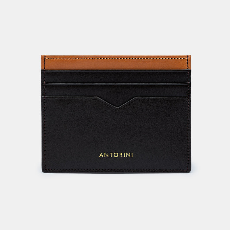 Card Wallet in Dark Brown and Cognac-ANTORINI®