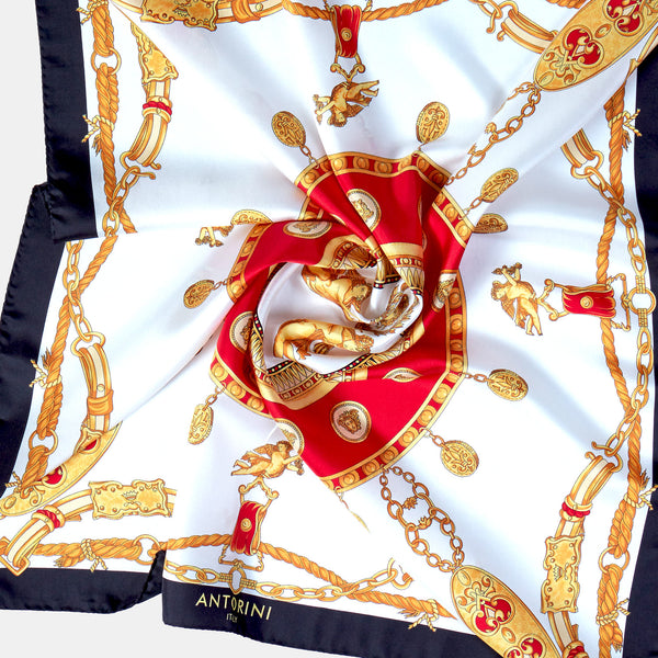 Imperial Silk Scarf in Black-ANTORINI®