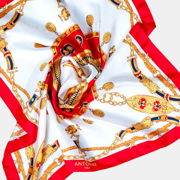 Imperial Silk Scarf in Red-ANTORINI®