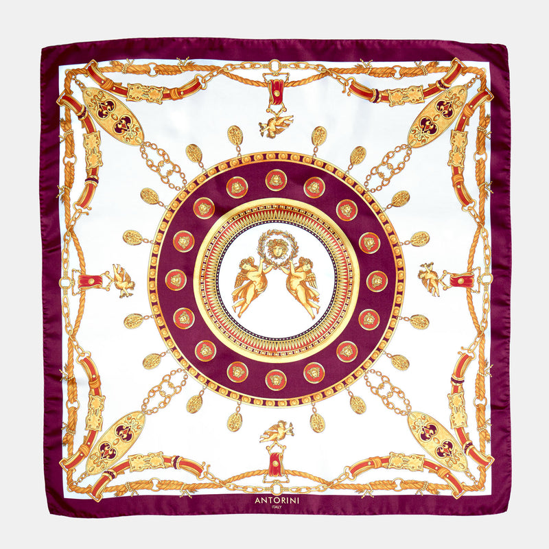 Imperial Silk Scarf in Purple-ANTORINI®