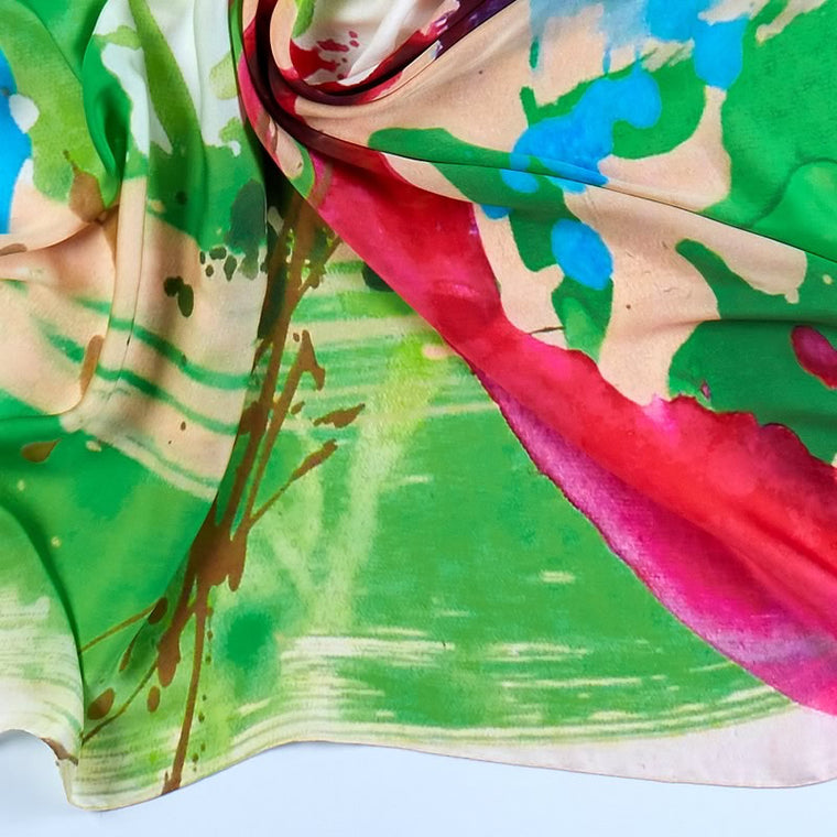 ANTORINI Colouful Silk Scarf
