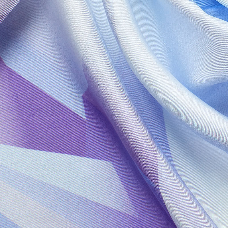 Crystal World Silk Scarf, Ice Violet