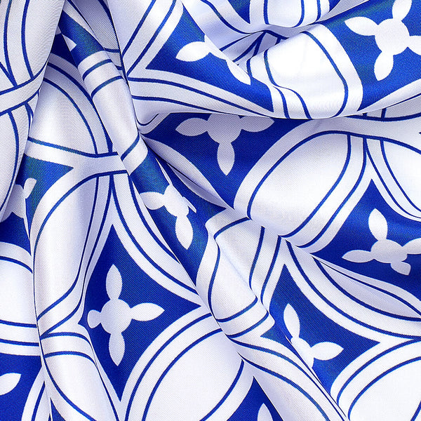 Geometric Luxury Silk Scarf XVIII-ANTORINI®