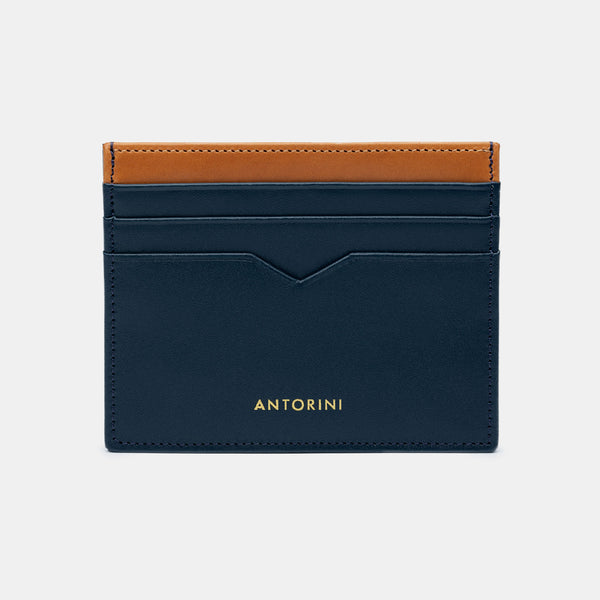 Card Wallet in Navy and Cognac-ANTORINI®