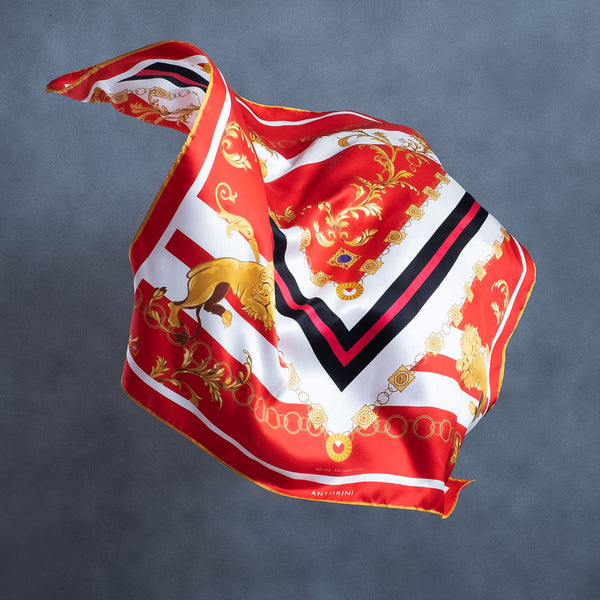 Silk Scarf ANTORINI Imperiale, Red-ANTORINI®